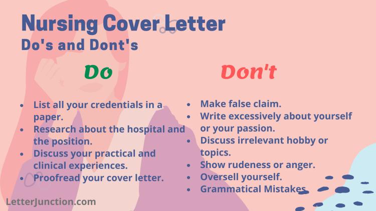 Nursing Cover Letter Dos Donts