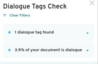 dialogue tags checker