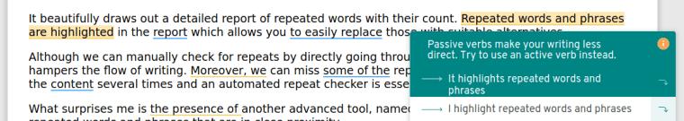 passive voice checker prowritingaid