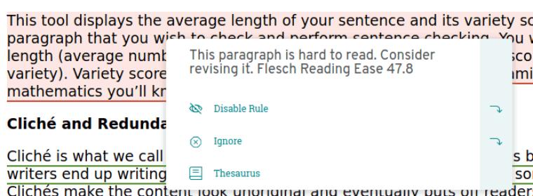 readability checker of prowritingaid