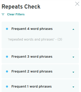 repeats checker was found to be working properly while writing this prowritingaid review