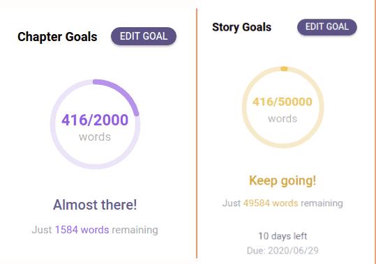 chapter goals story goals