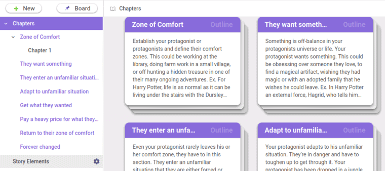 livingwriter automatically creates story structure for you