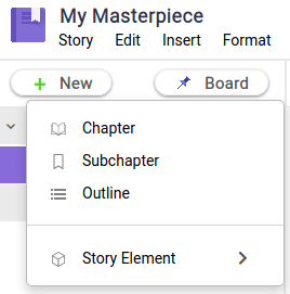 How to create a new chapter