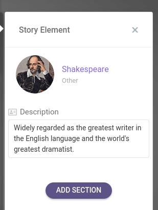 customize story element