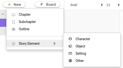creating story element