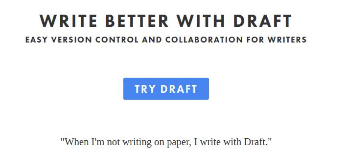 Draft Write Better