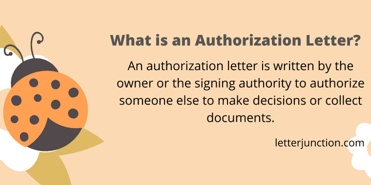 what is an authorization letter