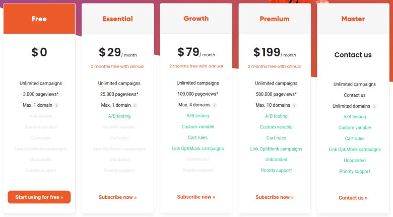 optimonk pricing