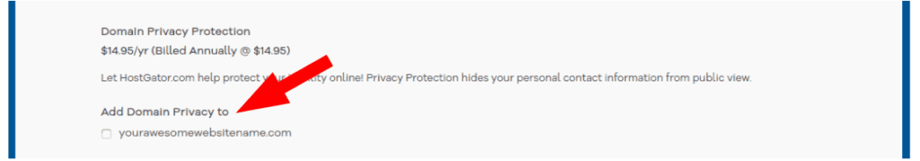 domain privacy protection is charged exorbitantly