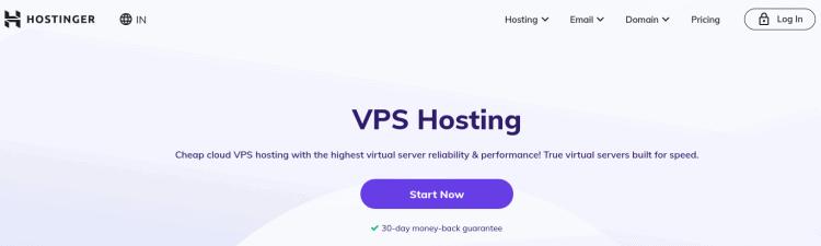Hostinger VPS hosting supports Java hosting