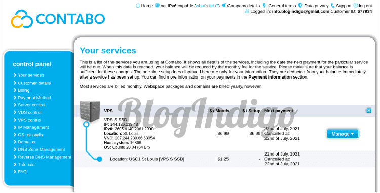 i purchased Contabo's VPS S SSD plan to test the performance of their VPS servers.