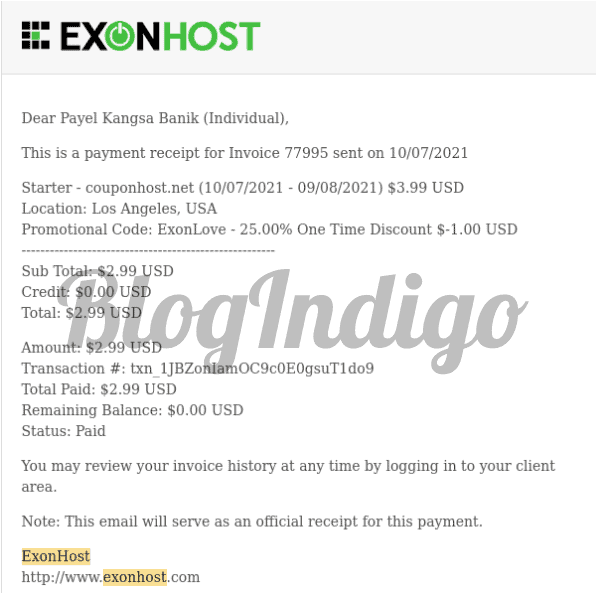 I subscribed to ExonHost's shared hosting plan and tested the performance of my website hosted with them.