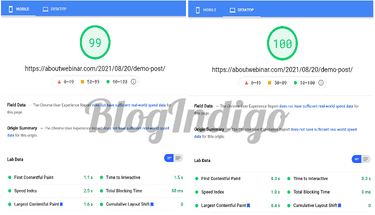 while reviewing mddhosting I tested the performance of my website with google pagespeed insights